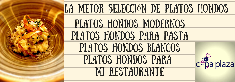 Platos hondos