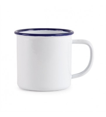 TAZA 350 ML BORDE AZUL
