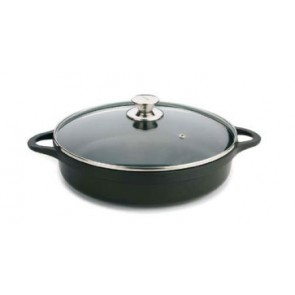 CAZUELA BAJA VALIRA BLACK Aluminio Fundido 40 CMS INDUCTION