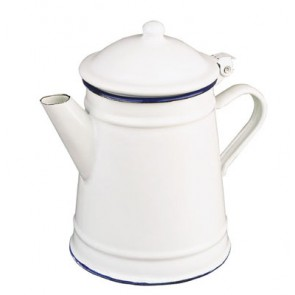 CAFETERA CONICA 1 LTS BLANCA